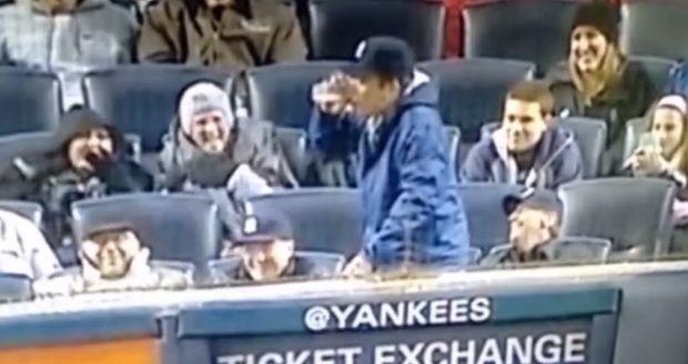 Jimmy Fallon Chugs Beer At Baseball Game