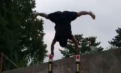 GIF: Crazy Gymnast Puts All Other Handstands To Shame