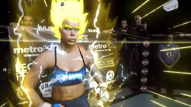 Check Out This Amazing Fan-Made GIF Of Ronda Rousey Going Super Saiyan
