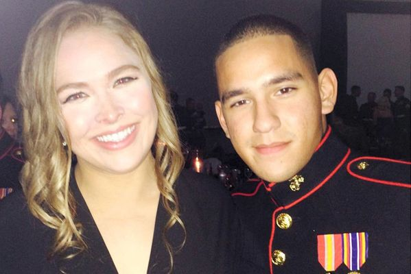 Ronda Rousey Keeps Her Promise and Attends Marine Corps Ball With Adoring Fan