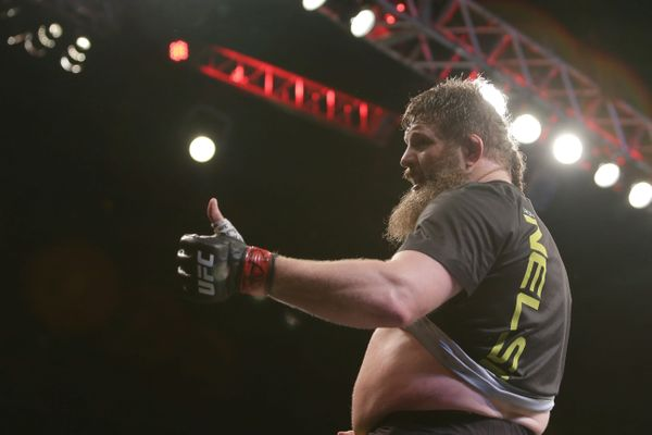 Roy Nelson Kicks Big John McCarthy in The Back After Late Stoppage at UFN 95