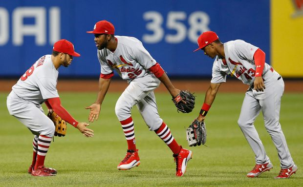 WATCH: Cardinals Outfield Commits Three Errors On Just Two Pitches