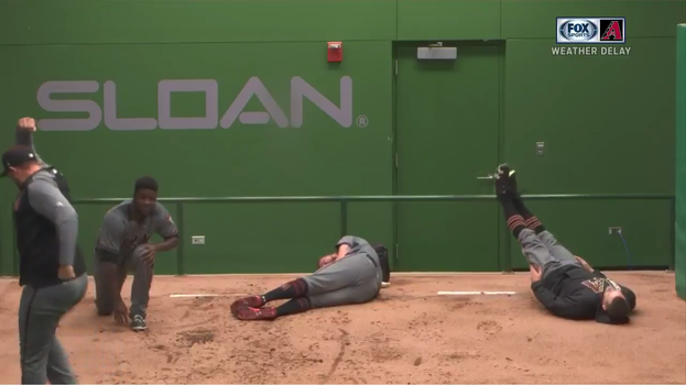 WATCH: Cubs and DBacks Bullpens Engage In Amazing Rain Delay Shenanigans