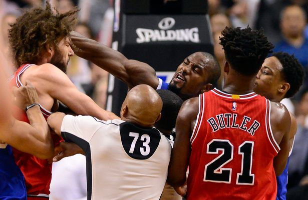 Watch: Bulls And Raptors Get Testy In OT Thriller