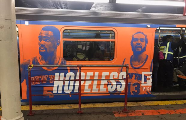 Fox Sports 1 Removes Subway Ads That Made Fun of The Knicks