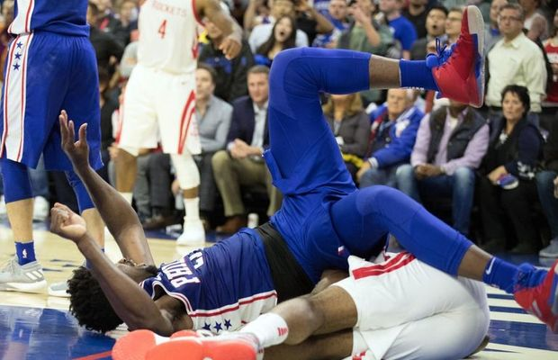 """Joel Embiid After Hard Fall: """"I'm Not Made of Glass"""""""