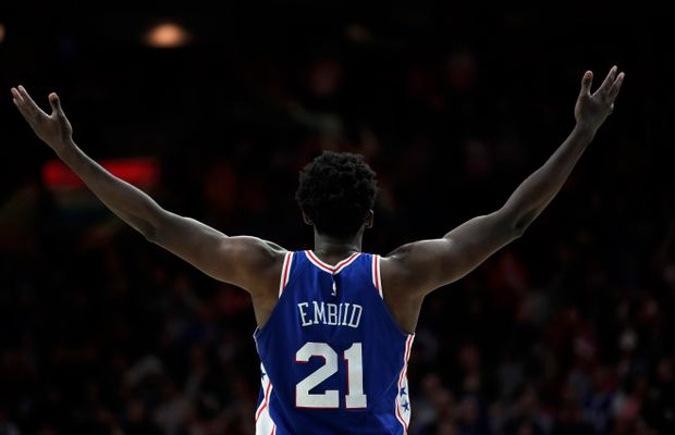WATCH: Joel Embiid Swats Shot, Talks Trash, Flops Hard, and Fires Up The Crowd in This Insane Sequence