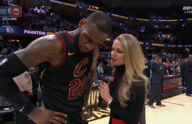 No, LeBron James Wasn't Blindsided By a TNT Reporter With News Of Erin Popovich's Passing