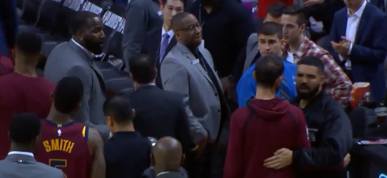 WATCH: Drake and Kendrick Perkins Begin Utterly Petty Beef During Raptors-Cavs Game
