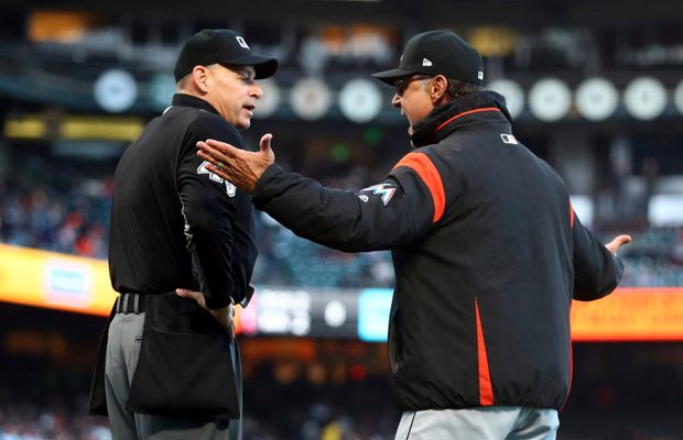 Giants and Marlins Have Themselves a Bean War With Multiple Ejections
