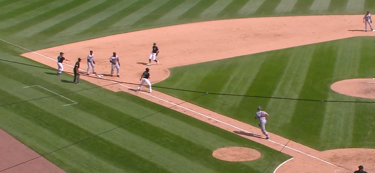 WATCH: This Wild Rundown Ends With Precisely Zero Outs and Zero Runs