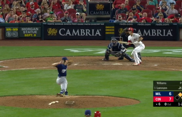 WATCH: Bizarre Foul Bunt Call Leads To Reds Pitcher Crushing a Homer