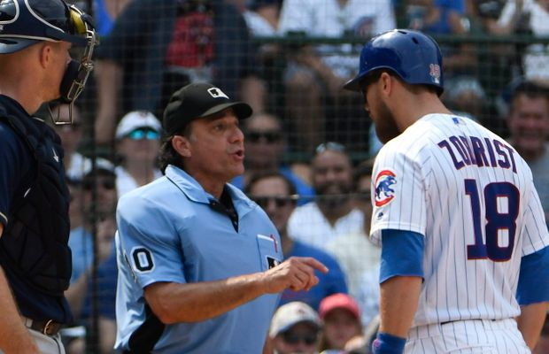 Ben Zobrist Ejected For Telling Ump He Wants Electronic Strike Zone