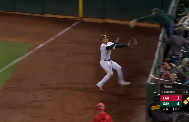 Fan Clearly Interferes With Foul Ball in Oakland, Replay Officials Rule No Interference