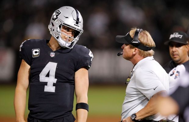 Jon Gruden Is Already Calling Out Derek Carr Over Questionable Decision Making