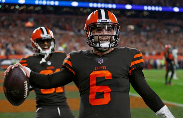 Baker Mayfield Finally Gets Browns a Win; Coach Hue Jackson Still Refuses To Name Him Starting Quarterback