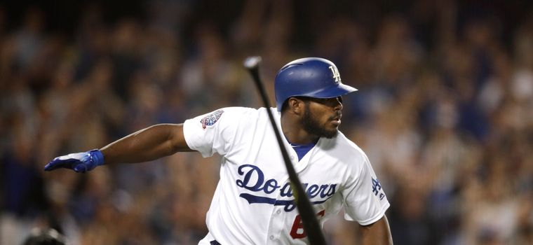 Yasiel Puig Launches a Mighty Bat Flip After Possibly Securing NL West For the Dodgers