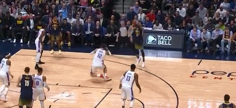 OMG: Jamal Murray Murders Steven Adams' Ankles With Sick Move